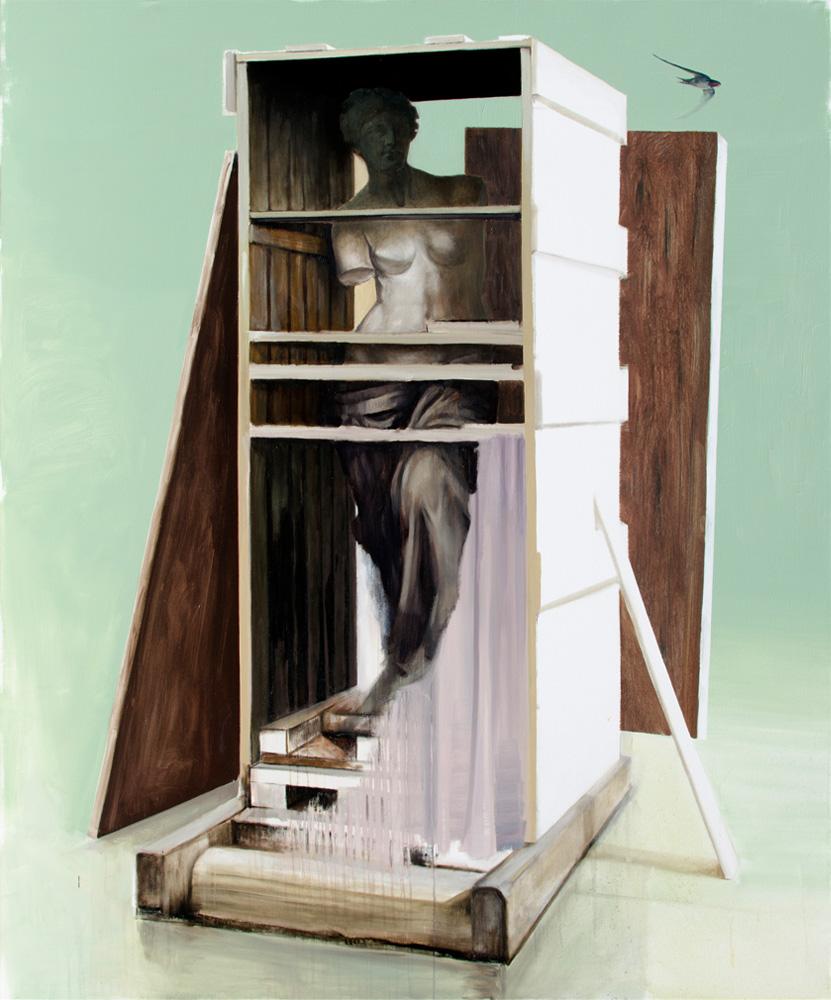 EL VIAJE, 2019, óleo sobre lienzo, 195 x 162 cm
