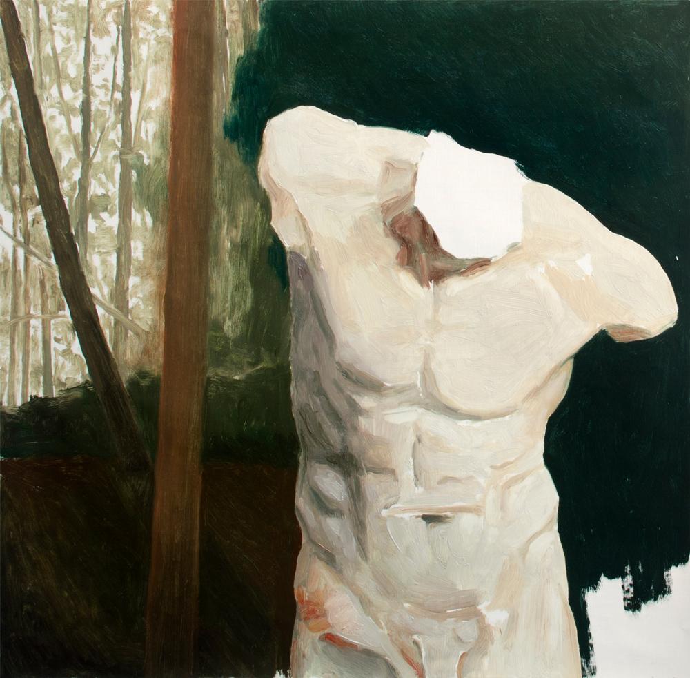 NEVER DIE, 2019, óleo sobre lienzo, 60 x 60 cm