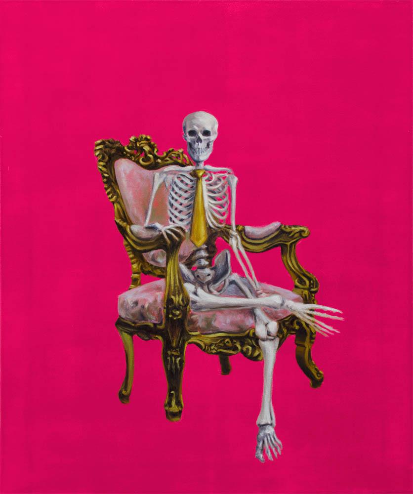 PASAPORTE A LA POSTERIDAD, 2015, óleo sobre lienzo, 73 x 60 cm.