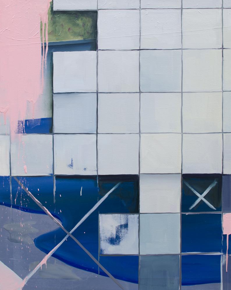 ROMPECABEZAS, 2016, óleo sobre lienzo, 100 x 81 cm.