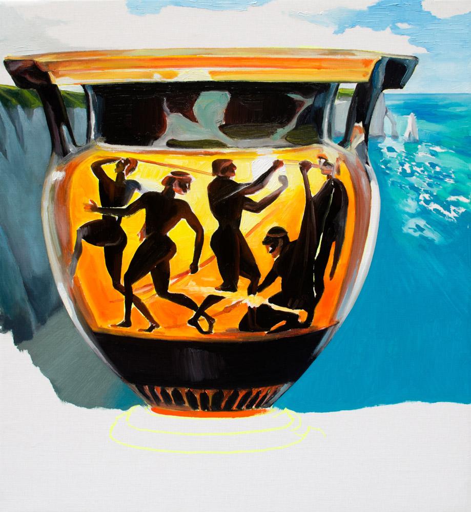 S/T (Home II), 2020, óleo sobre lienzo, 60 x 54 cm