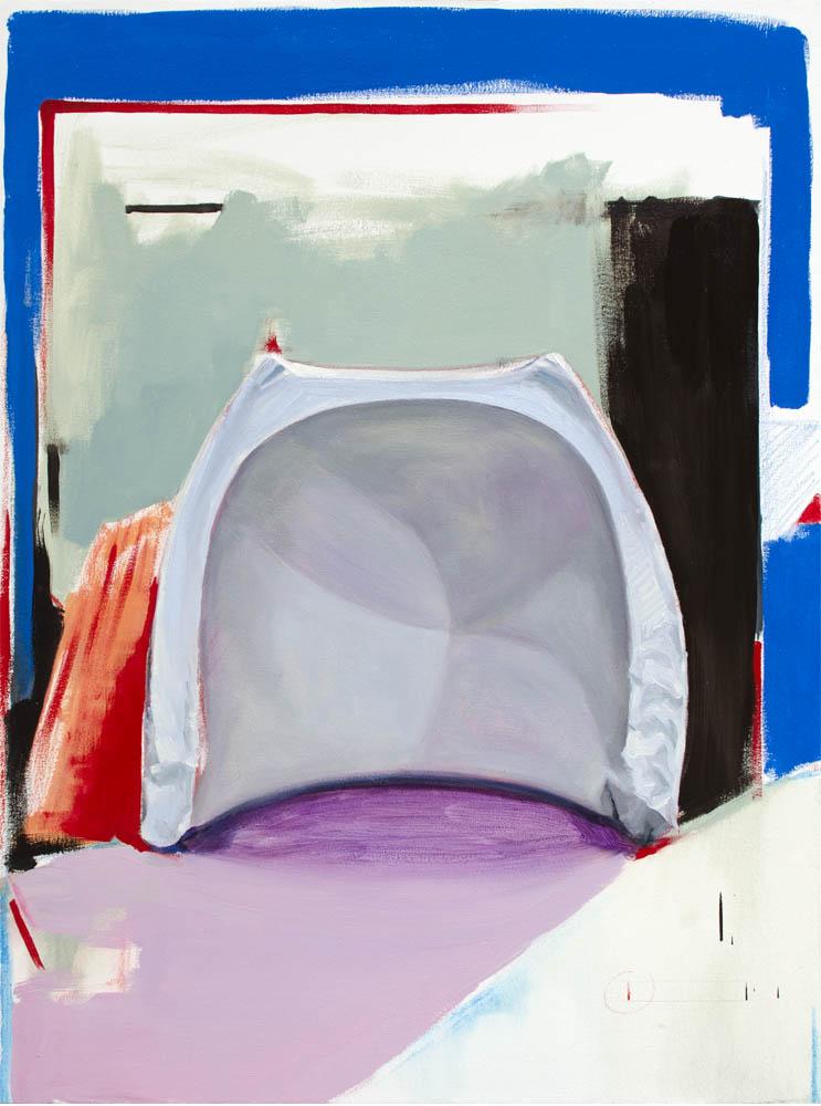 SORRY ABOUT THAT, 2016, óleo y esmalte sobre lienzo, 100 x 73 cm.