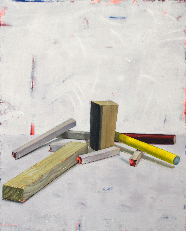 SIN TÍTULO (CATACROQUEN II), 2017, óleo, esmalte y spray sobre lienzo, 150 x 120 cm.