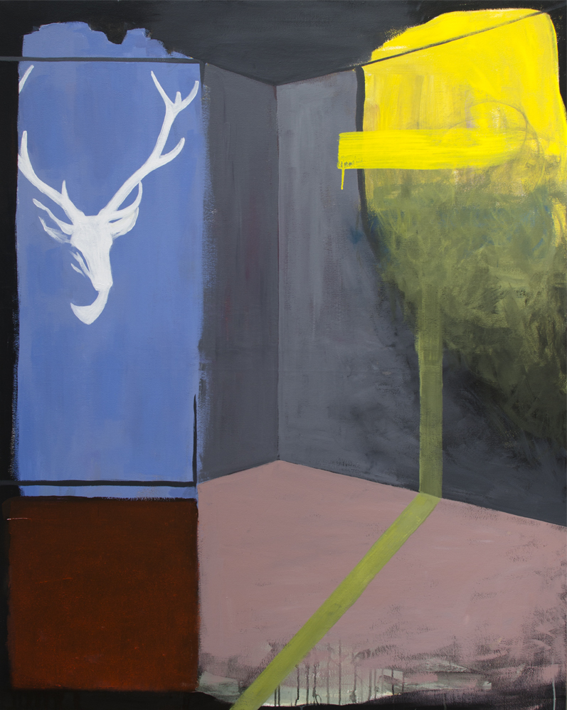 INTERRUPCIÓN ESPACIAL, 2016, óleo sobre lienzo, 150 x 120 cm.