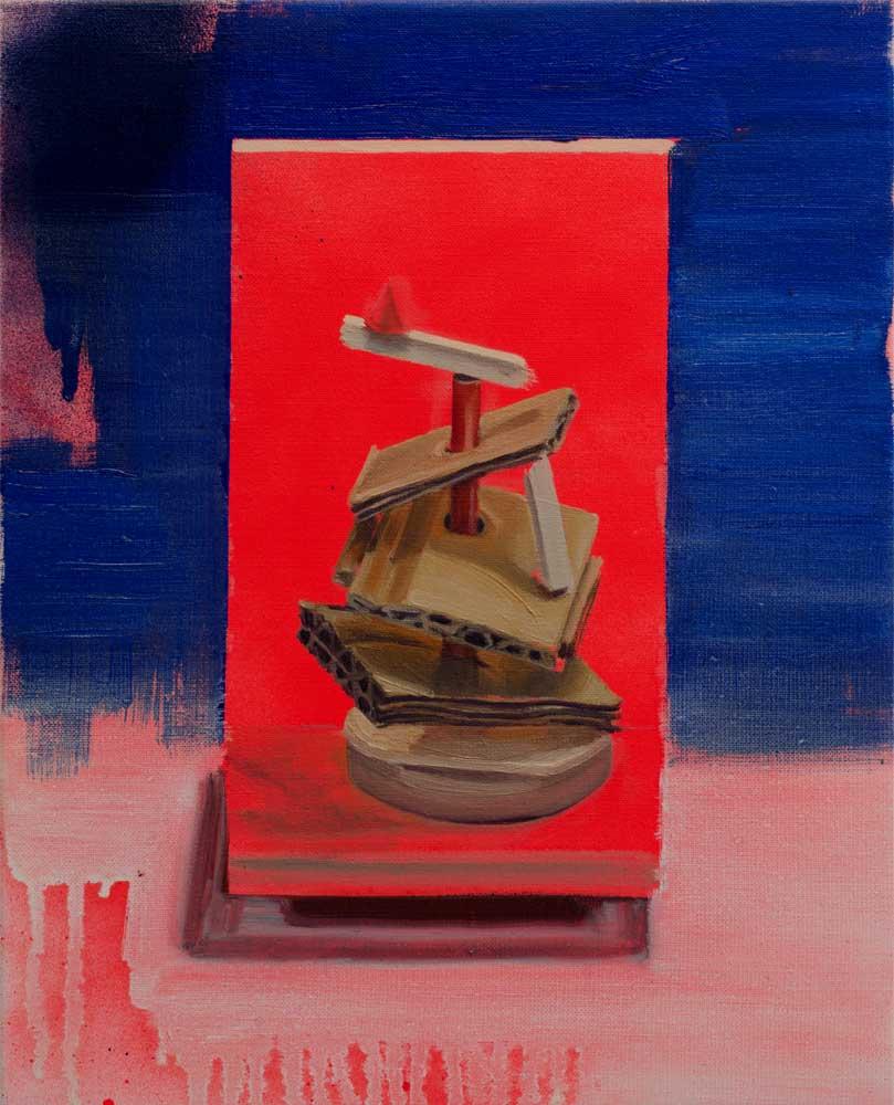 TERRITORIO EFÍMERO VI, 2018, óleo y spray sobre lienzo, 41 x 33 cm