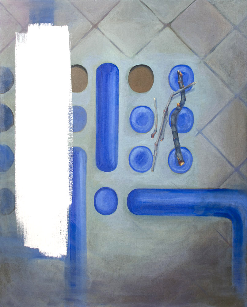 EL PLAGIO INHERENTE, 2016, óleo sobre lienzo, 100 x 81 cm.