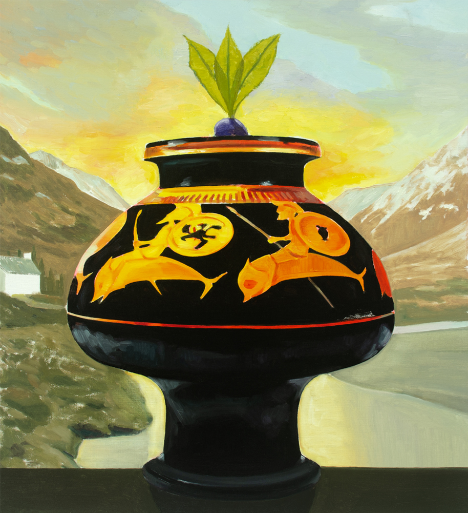 EL VIAJE, 2020, óleo sobre lienzo, 60 x 54 cm