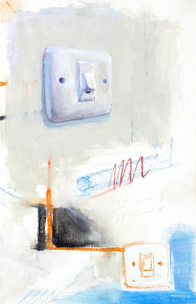 (SIN TÍTULO), 2016, óleo y esmalte sobre madera, 30 x 19.2 cm.