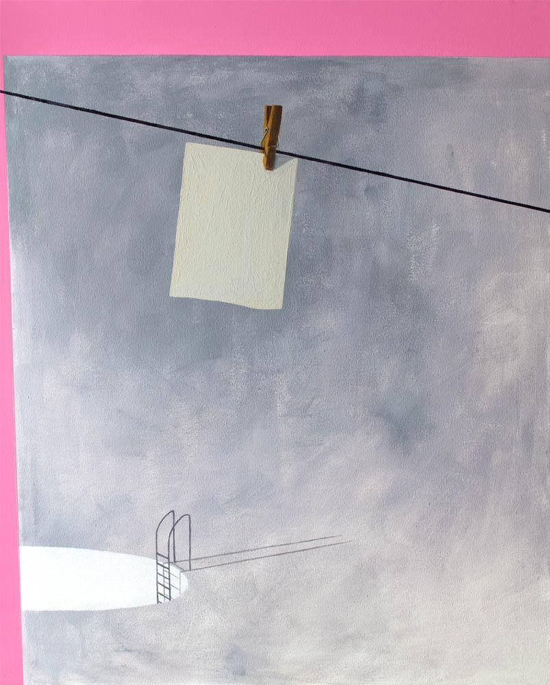 THE KEY, 2016, óleo sobre lienzo, 81 x 65 cm.