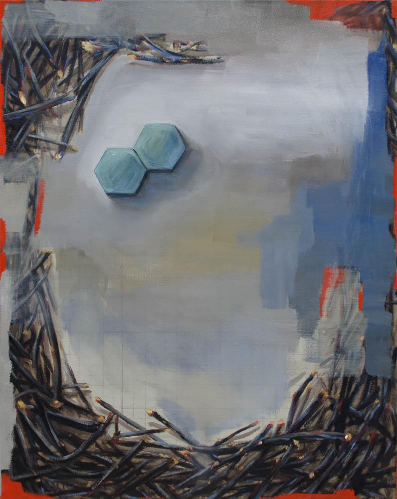 EL VÍNCULO, 2016, óleo sobre lienzo, 91.5 x 73 cm.